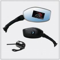 雙鏡頭1080P摩托車後視鏡行車紀錄器 - M72
